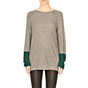 T by Alexander Wang Grey Oversized Comfy Sweater